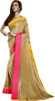 Viva N Diva Embroidered Fashion Satin Saree(Beige)