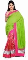 Dancing Girl Solid Bollywood Georgette Saree(Multicolor)