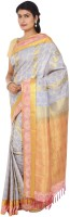 Thara Sarees Self Design Kanjivaram Art Silk Saree(Purple)