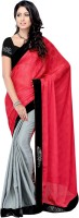 Suvastram Self Design Fashion Poly Georgette Saree(Red)