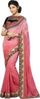 Kvsfab Embroidered Fashion Jacquard Saree(Pink)