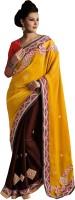 We Desi Self Design Fashion Silk Saree(Yellow)