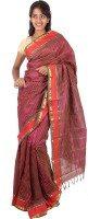 Thara Sarees Self Design Kanjivaram Art Silk Saree(Red)