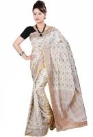 Anushree Saree Printed Fashion Poly Chanderi Saree(Multicolor)