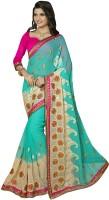 Jiya Self Design, Embroidered Fashion Chiffon Saree(Multicolor)