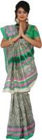Womantra Floral Print Bhagalpuri Synthetic Saree(Multicolor)
