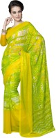 Suvastram Printed Fashion Cotton Blend Saree(Yellow)