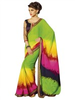Patiala House Printed, Embroidered Fashion Georgette Saree(Multicolor)