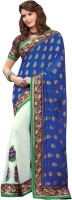 Kanheyas Embroidered Fashion Handloom Georgette Saree(Multicolor)