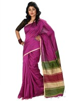 Hawai Striped Fashion Cotton Saree(Purple)