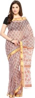 Fostelo Self Design Daily Wear Cotton Saree(Mustard)