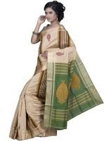 Hawai Printed Tant Silk Saree(Multicolor)
