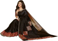 Bhavi Printed Fashion Art Silk Saree(Black)