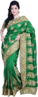 Ambition Embellished Fashion Silk Saree(Green)