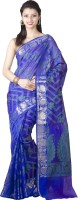 Chandrakala Woven Banarasi Art Silk Saree(Blue)