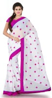Weavedeal Embellished, Embroidered Bollywood Cotton, Chanderi Saree(Pink)