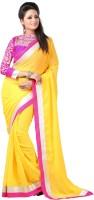 Anushree Saree Solid Fashion Chiffon Saree(Multicolor)