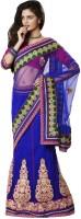 Bahubali Sarees Self Design Lehenga Saree Net Saree(Blue)