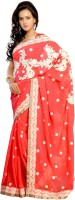 Dancing Girl Embroidered Bollywood Georgette Saree(Red)