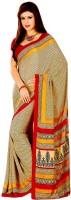 Khushali Printed Fashion Crepe Saree(Multicolor)