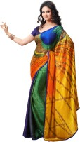Aksh Fashion Printed Fashion Jacquard Saree(Multicolor)