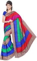 Khoobee Self Design, Printed Fashion Poly Silk Saree(Multicolor)