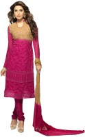 Shreeji Fashion Chiffon Self Design Salwar Suit Dupatta Material(Un-stitched)