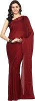 Aksara Self Design Daily Wear Crepe Saree(Brown)