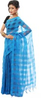 SSMITN Solid Tant Cotton Saree(Blue)