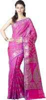Chandrakala Woven Banarasi Art Silk Saree(Pink)