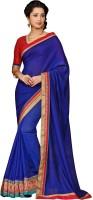 Shoponbit Self Design Fashion Silk Saree(Blue)