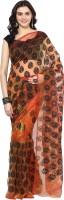 Aksara Self Design Daily Wear Glass Tissue Saree(Orange)