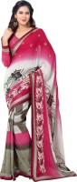 Vastrani Embroidered Fashion Georgette Saree(Pink, Grey)