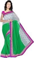 Sonal Trendz Embroidered Bollywood Chiffon Saree(Green)