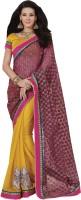 Melluha Embroidered Fashion Chiffon Saree(Yellow)