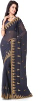 Saree Swarg Self Design Bollywood Georgette Saree(Grey)