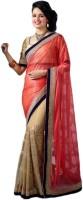 M.S.Retail Embroidered Fashion Chiffon, Net Saree(Pink)