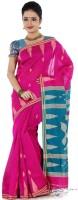 Hawai Self Design Tant Cotton Saree(Pink)