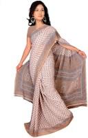 Khoobee Self Design, Printed Fashion Poly Georgette Saree(Beige)
