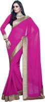 Valeska Solid Fashion Poly Georgette Saree(Pink)