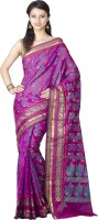 Chandrakala Woven Banarasi Art Silk Saree(Purple)