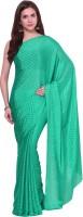 Aksara Self Design Daily Wear Crepe Saree(Light Green)