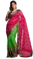 Kataan Bazaar Self Design Banarasi Handloom Net Saree(Pink)