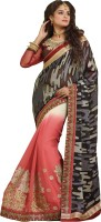 Melluha Embroidered Bollywood Brasso Saree(Multicolor)