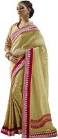 Bahubali Sarees Self Design Fashion Crepe Saree(Gold)