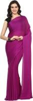 Aksara Self Design Daily Wear Crepe Saree(Purple)