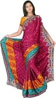 MGS Printed Fashion Jacquard Saree(Multicolor)