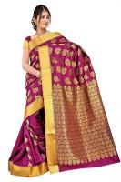 Varkala Silk Sarees Printed Kanjivaram Art Silk, Jacquard, Brocade Saree(Pink)