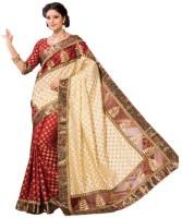 M.S.Retail Self Design Fashion Raw Silk Saree(Red)