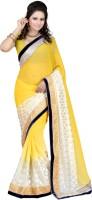 Ansu Fashion Solid Fashion Chiffon Saree(Pink)